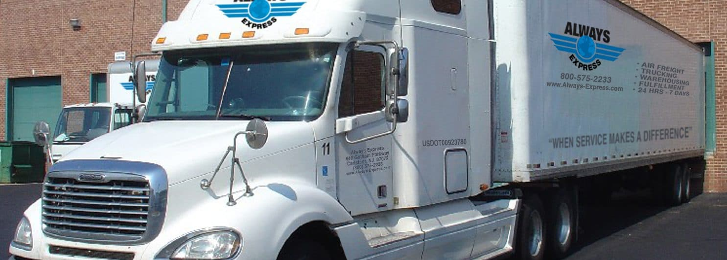Always Express truck trailer for freight, ground transportation and shipping. Single source logistics provider.
